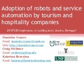 Adoption of robots and service automation by tourism and hospitality companies