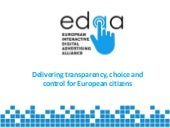 Delivering transparency, choice and control for European Citizens - EDAA