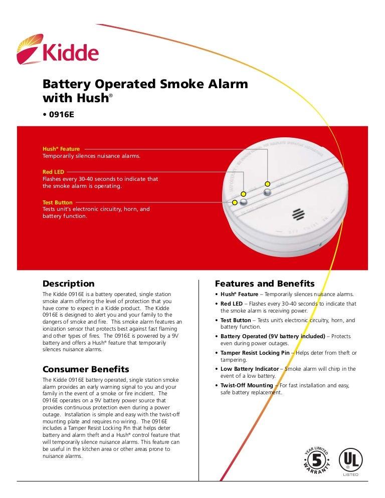 Ionization smoke alarm model 0916