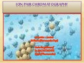 Ion pair chromatography final