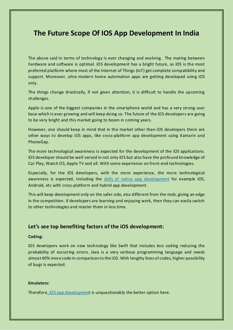 IOS App Development Company In India