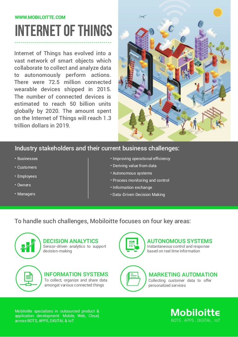 internet of things iot flyer