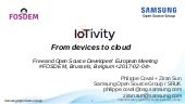 IoTivity: From Devices to the Cloud