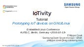 IoTivity Tutorial: Prototyping IoT Devices on GNU/Linux