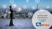 IoT security compliance checklist