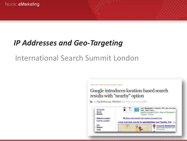 Ip addresses and_geo-targeting