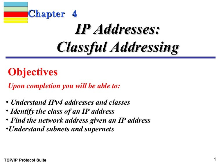 Ip addressing classful