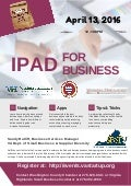 iPad for Business Noon Knowledge Workshop, April 13, 2016