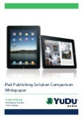 iPad Publishing Solution Comparison Whitepaper