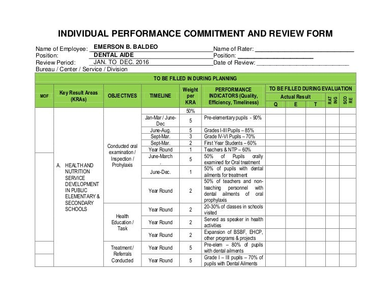 personnel review form