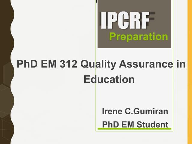 Ipcrf presentation 2018