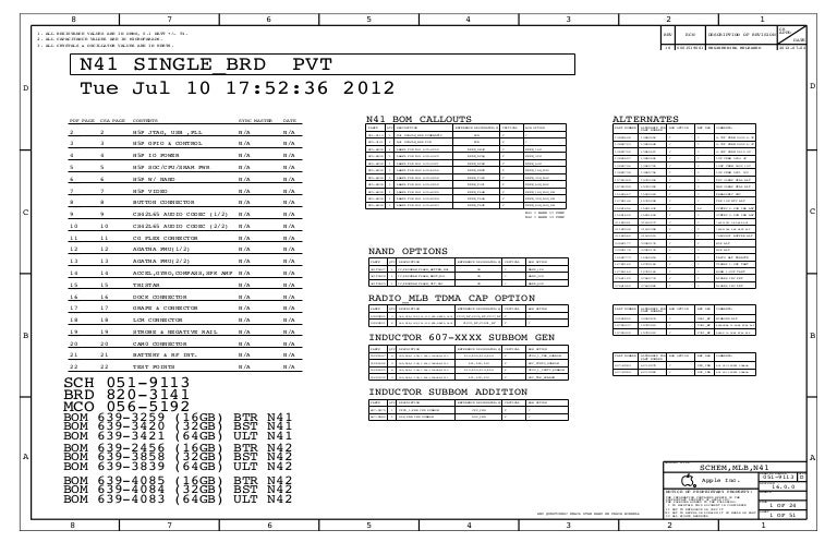 I Phone 5 Full Schematic Diagram 820 3141