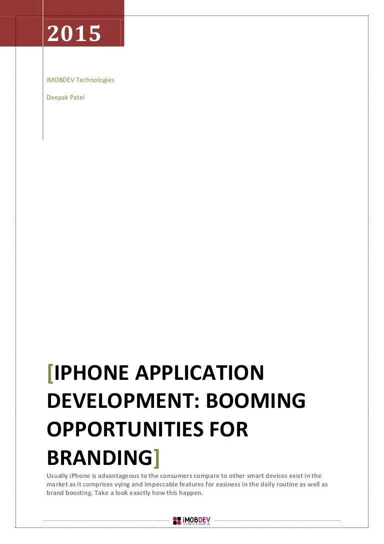 I phone application development delivers booming