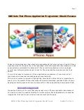 Skill Sets That iPhone Application Programmer Should Possess