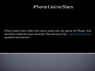 iPhone casino stars