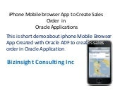 iphone Mobile Browser Application to create sales order