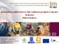 Innovation platforms in the imGoats project: Lessons learned