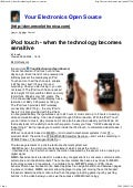 I Pod Touch   When The Technology Becomes Sensitive