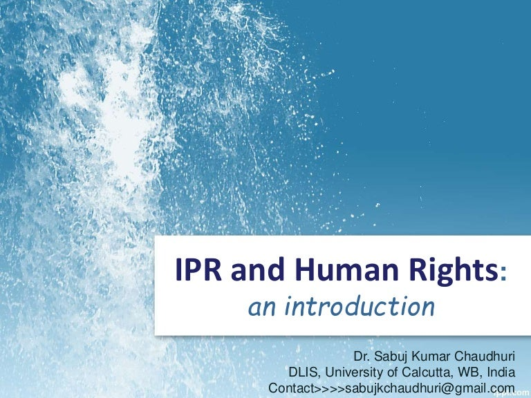 Ipr and human rights an introduction toneelgroepblik Gallery