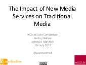 Policy Strategies in the Mediadem Countries with regard to New Media Services