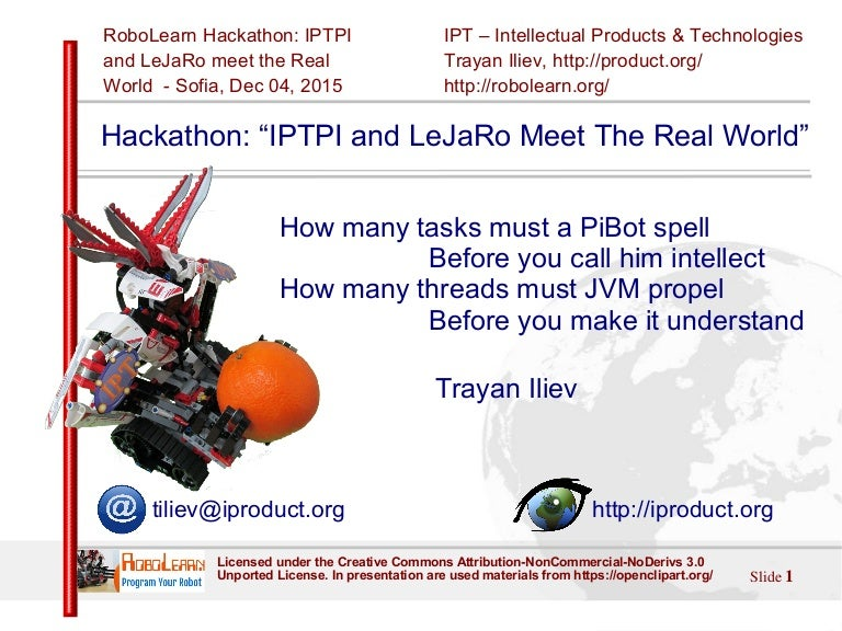 hackathon u201ciptpi and lejaro meet the real world u201d rh slideshare net