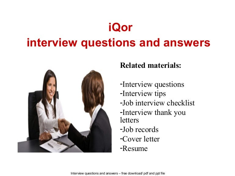 i qor interview questions and answers