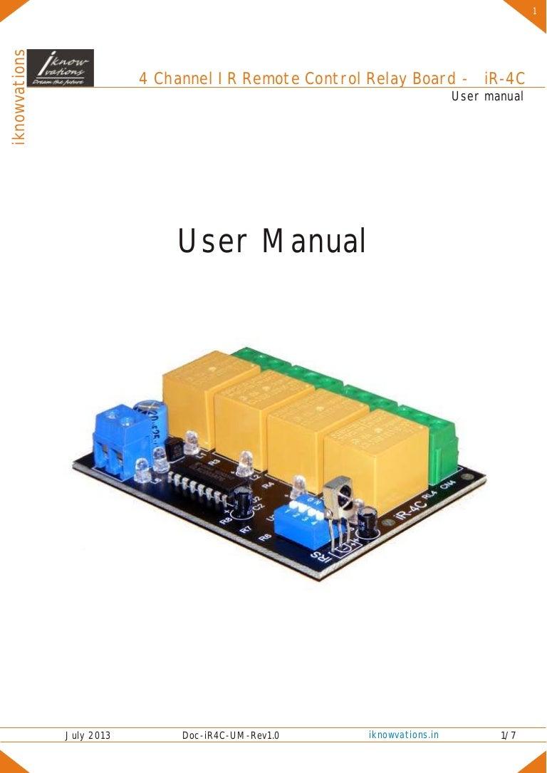 Ir 4c 4 Channel Remote Control Relay Board User Manual Circuit Boardbuy Cheap