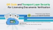 QR Code and Transport Layer Security For Licensing Documents Verification- Irawan incitest 2018