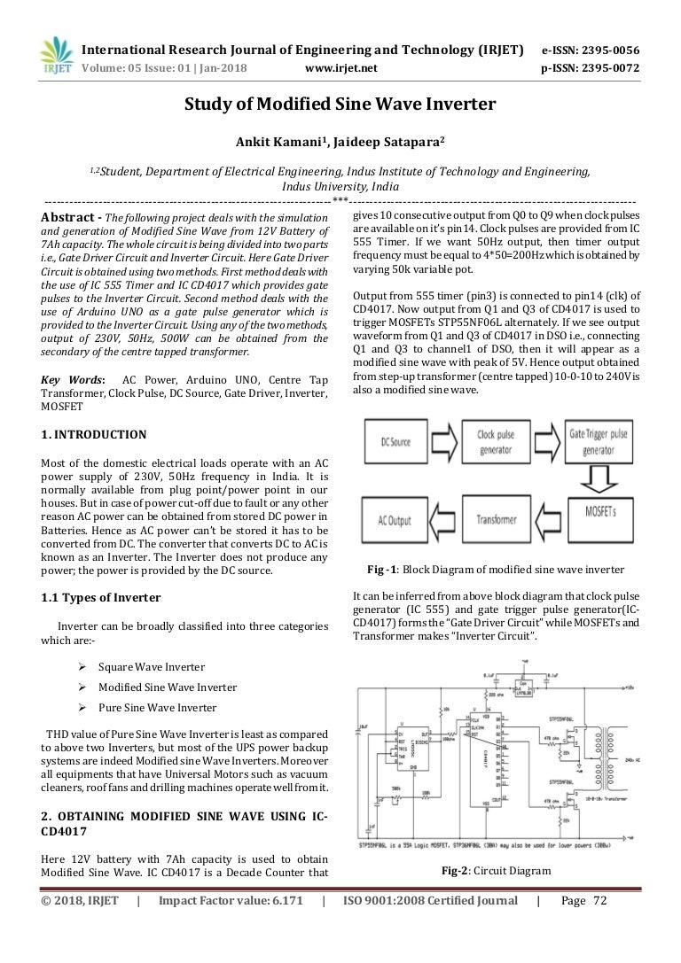 Study Of Modified Sine Wave Inverter Square And Diagram Irjet V5i114 180310071715 Thumbnail 4cb1520666807