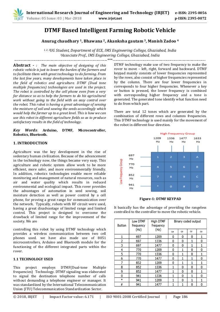 Dtmf Based Intelligent Farming Robotic Vehicle Robo Car Design Circuit Using 8051 Microcontroller Irjet V5i341 180614102010 Thumbnail 4cb1528971645