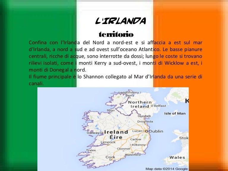 Mare D Irlanda Cartina.Irlanda