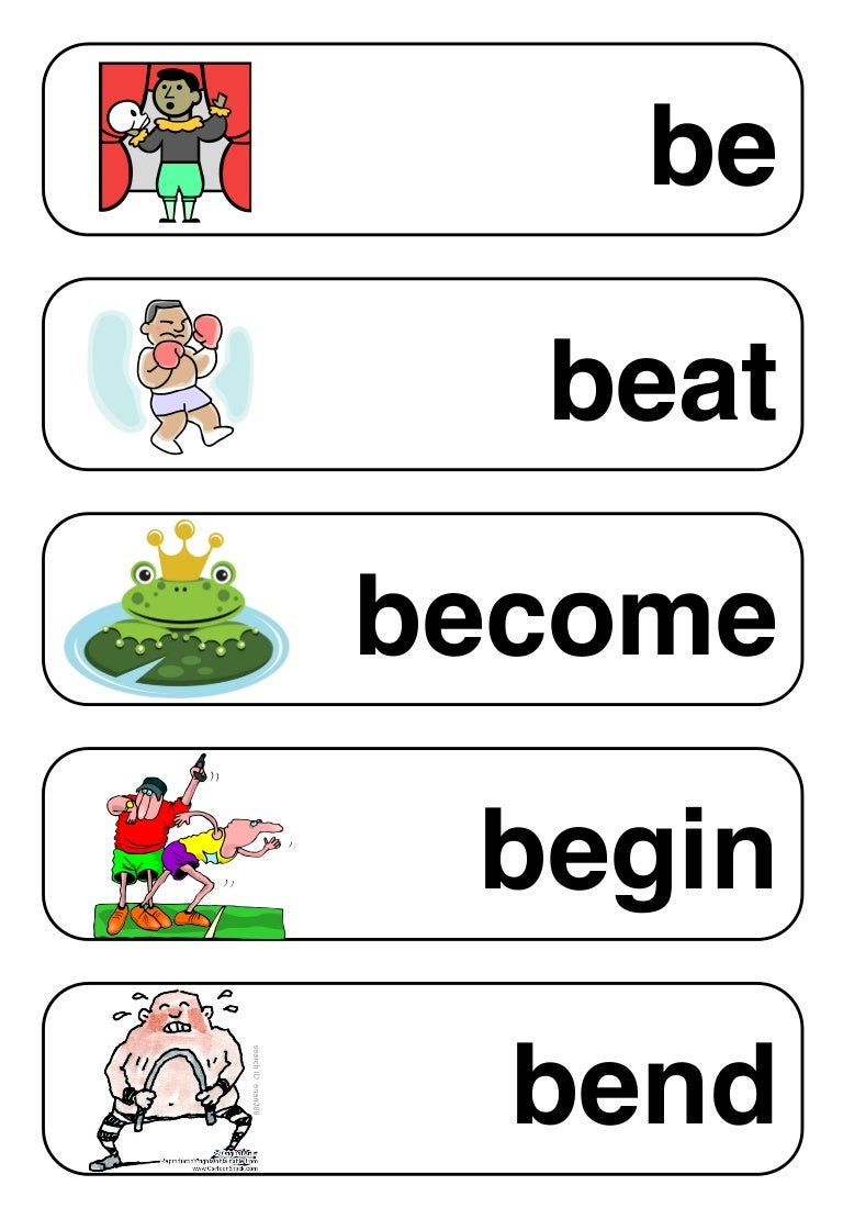 irregular verbs starting with u
