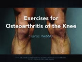 Exercises for Knee Osteoarthritis (from WebMD)