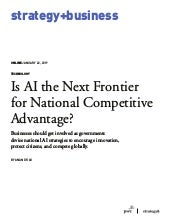 Is AI the Next Frontier for National Competitive Advantage?