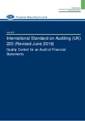 ISA 220 (Revised) Quality Control for an Audit of Financial Statements