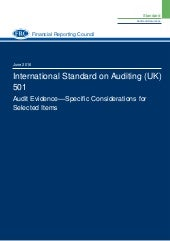 Isa (uk)-501 Audit Evidence – Specific Considerations for Selected Items