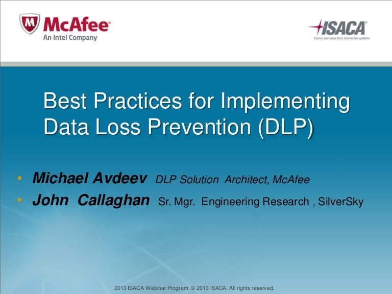 best practices for implementing data loss prevention dlp