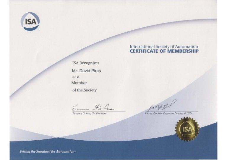 isa certificate membership international society slideshare member upcoming