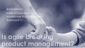 Steve Johnson - Is Agile breaking Product Management?