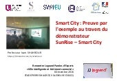 Smart City : Preuve par l'exemple -  démonstrateur  SunRise – Smart City