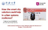 How the smart city solution could help in urban systems resilience?