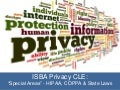 "ISBA Privacy CLE ""special areas"""