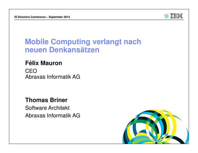 Mobile Computing verlangt nach neuen Denkansätzen