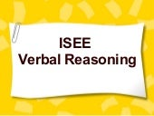 Isee verbal reasoning