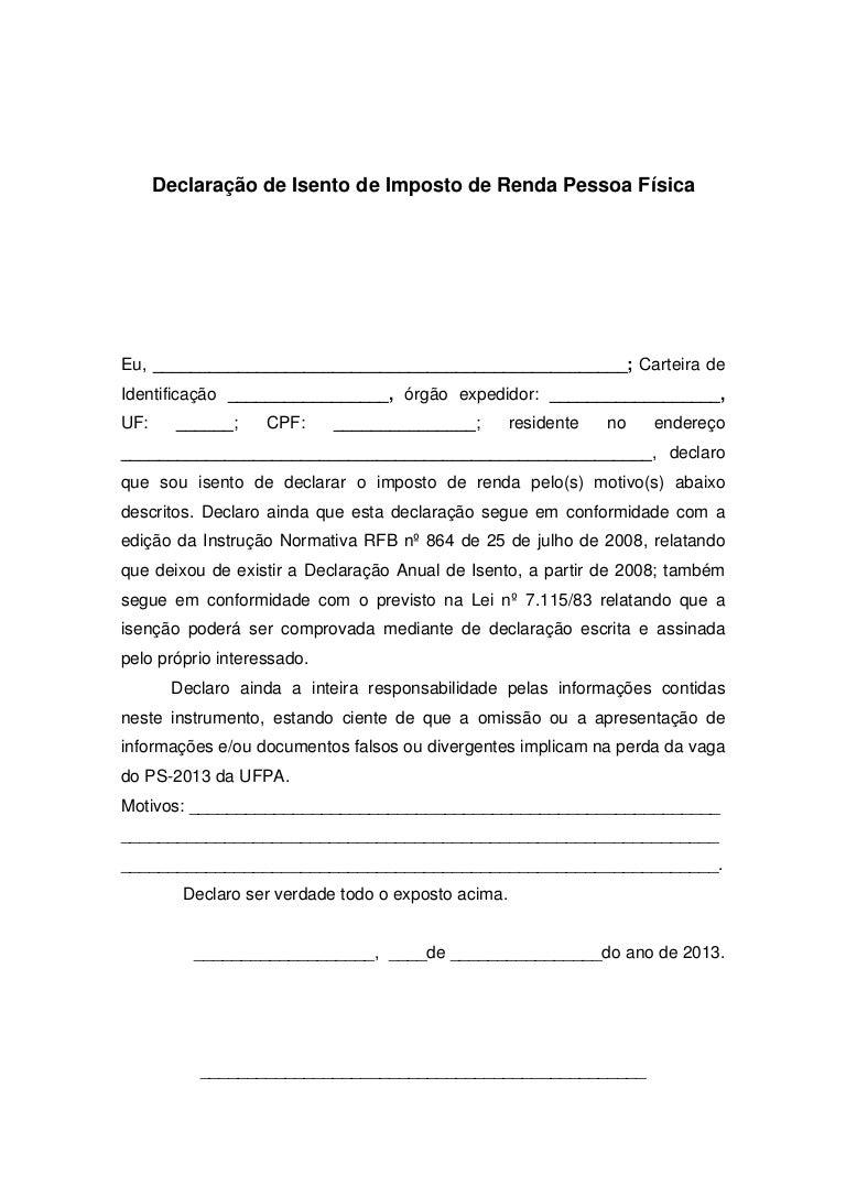Isento Irpf Declaração 1198950 3543
