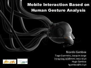 Mobile Interaction Based on Human Gesture Analysis