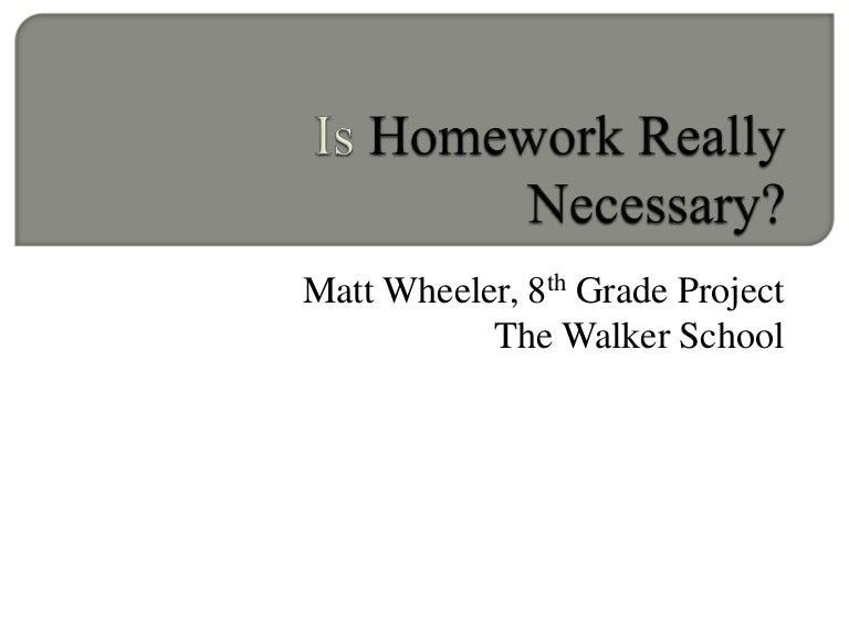 is homework really necessary