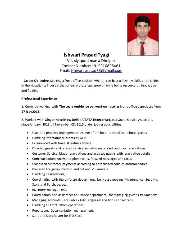 career objective for hotel industry corpedo com