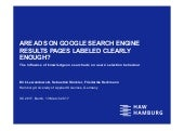 Are Ads on Google search engine results pages labeled clearly enough?