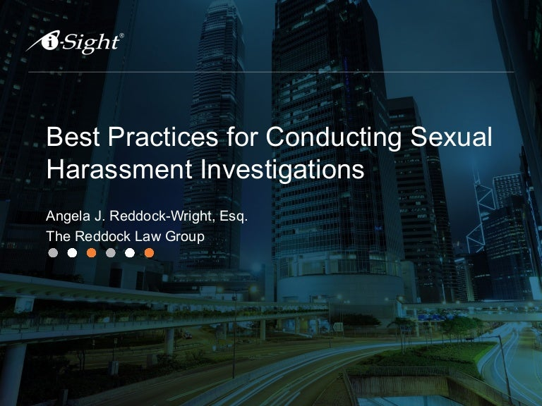 Preliminary investigation process of sexual harassment